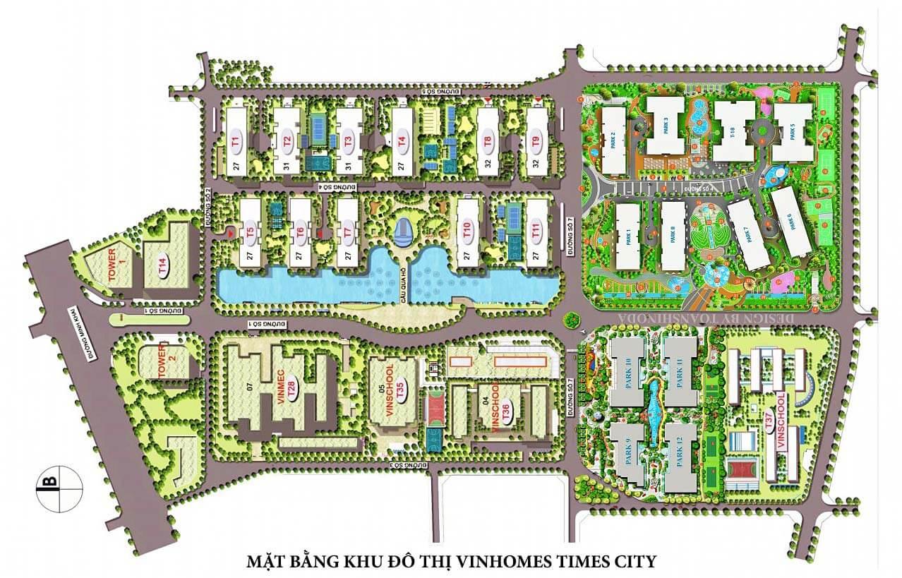 Mặt bằng Times City Park Hill Premium